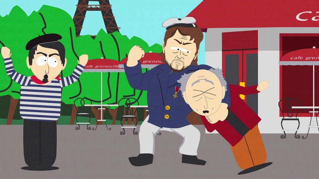 Salió en 'South Park' por su fama de violento