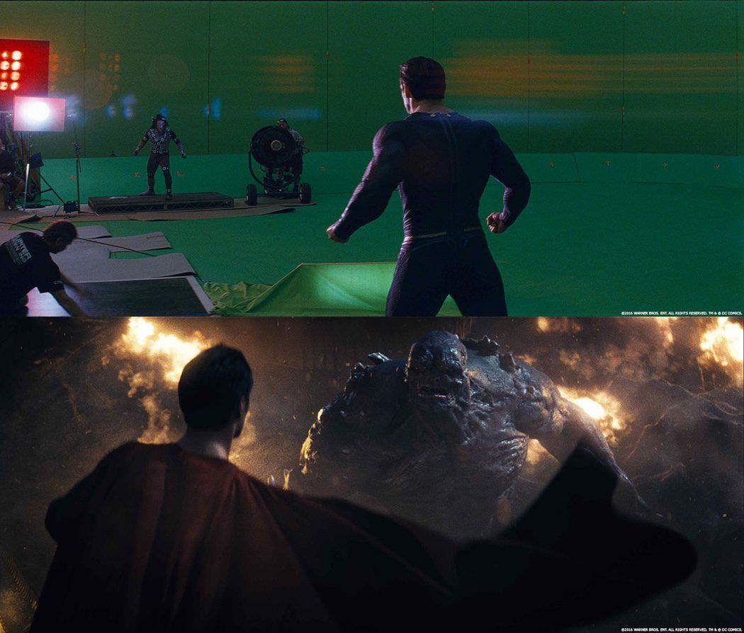 Doomsday antes y después del montaje de producción