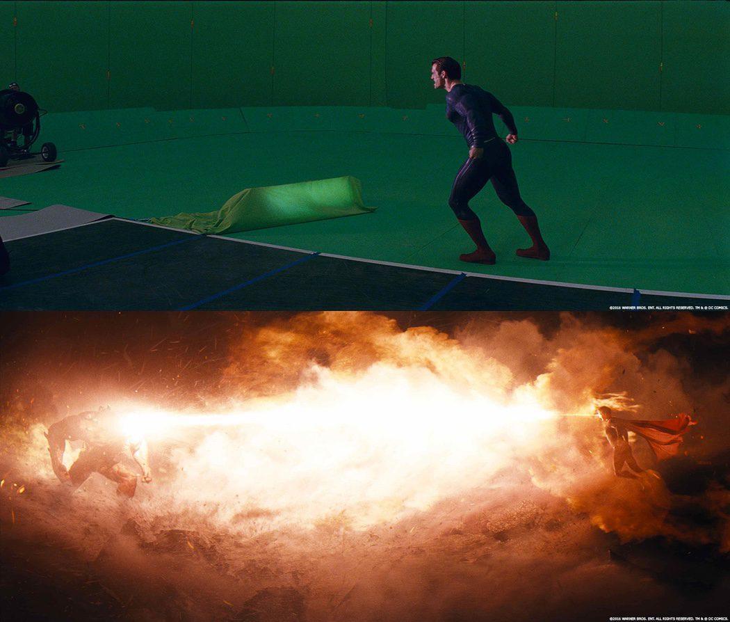 Los rayos X de Superman con y sin efectos especiales