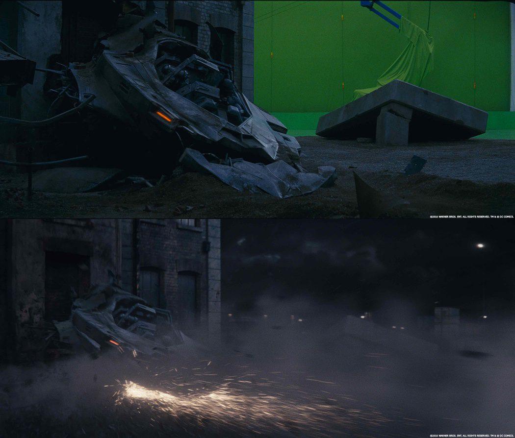 La ciudad de Gotham con el chroma verde