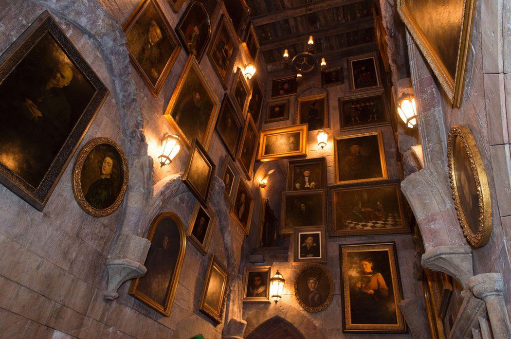 Cuadros de Hogwarts en el parque temático de 'Harry Potter'