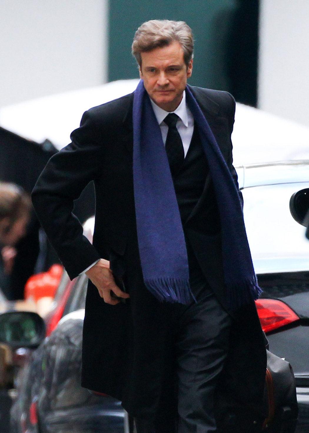 Colin Firth en el set de rodaje de 'Bridget Jones's Baby'