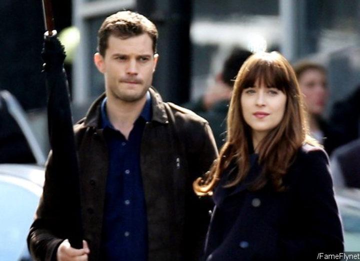 Jamie Dornan y Dakota Johnson en el rodaje de 'Cincuenta sombras más oscuras'
