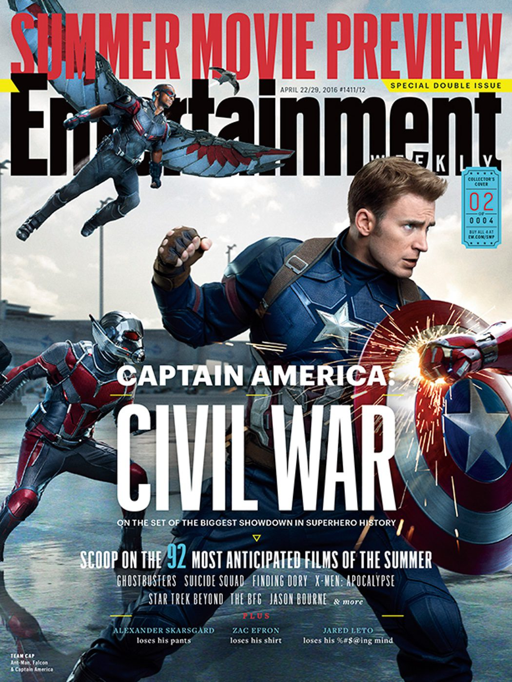 Portadas de Entertainmet Weekly y nuevas imágenes de 'Capitán América: Civil War'