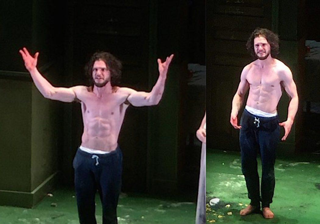 Kit Harington enseña sus abdominales en la obra 'Doctor Fausto'