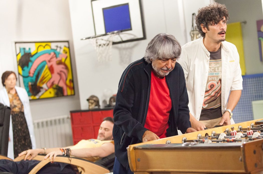 Vicente y Javi jugando en la nueva casa de Amador