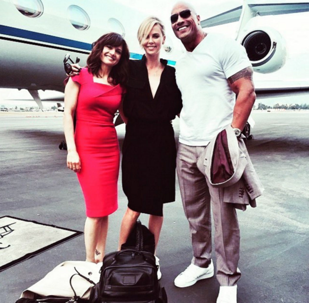 Charlize y The Rock