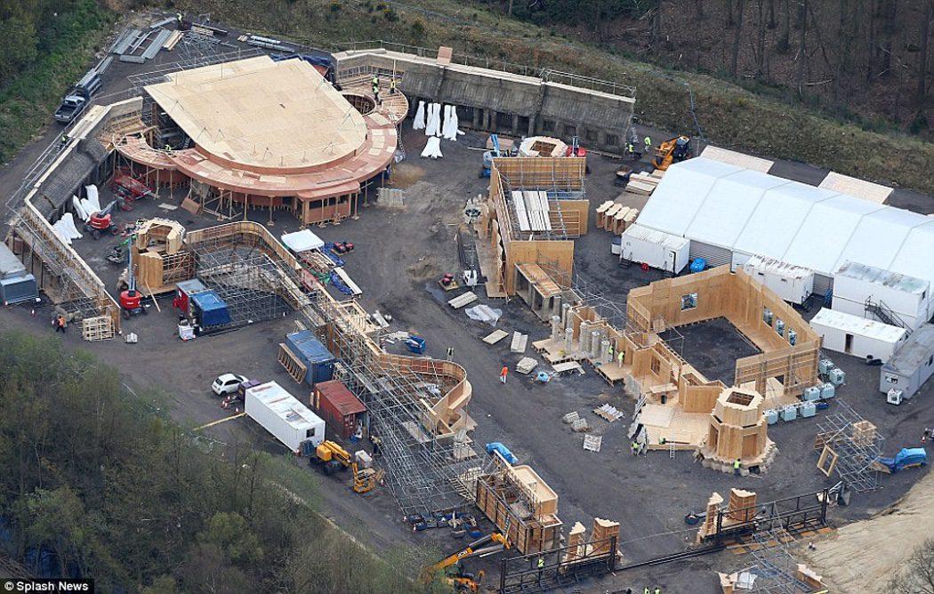Un set en construcción