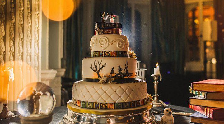 Y cómo no, la tarta nupcial no podía ser menos