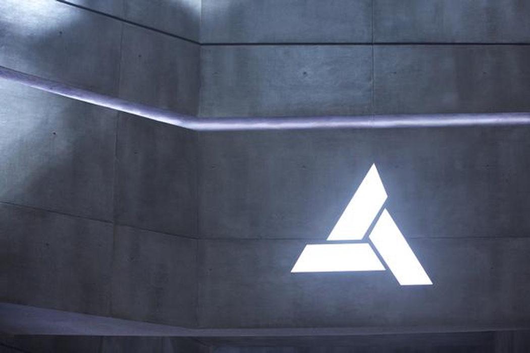 Símbolo de Abstergo en el set