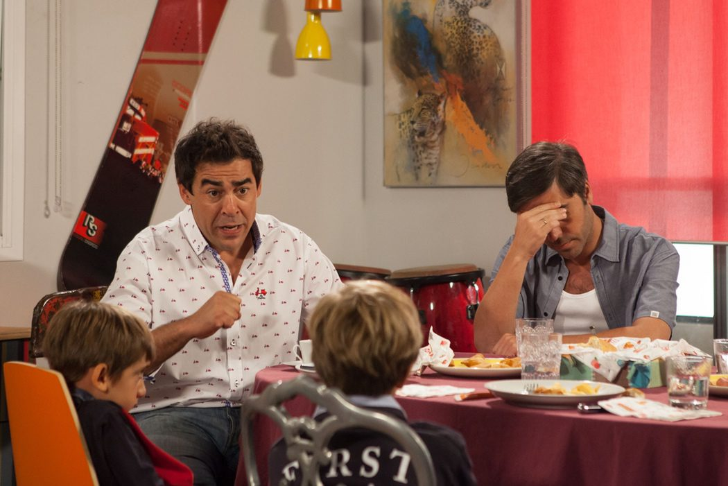 Amador y Teodoro con los cuquitos en 'LQSA'