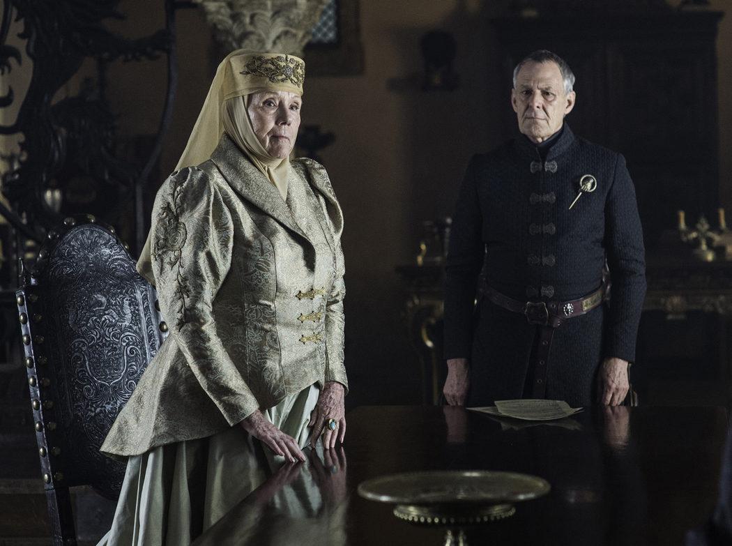 Lady Olenna y Kevan Lannister, la Mano del Rey