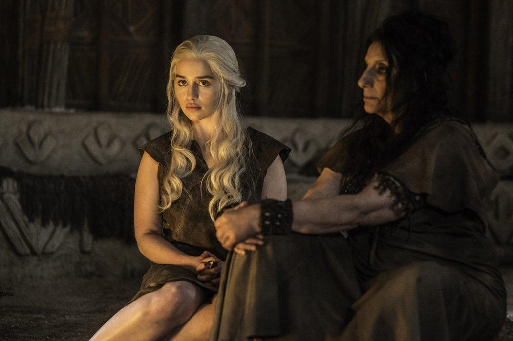 Daenerys Targaryen en Vaes Dothrak