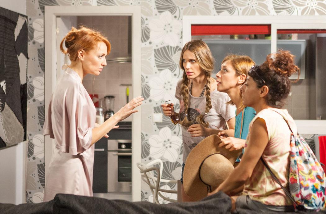 Judith con las demás chicas en 'LQSA'