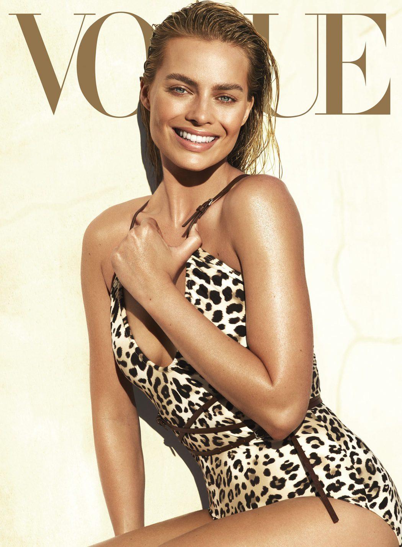 Margot Robbie muy sexy en la portada de Vogue