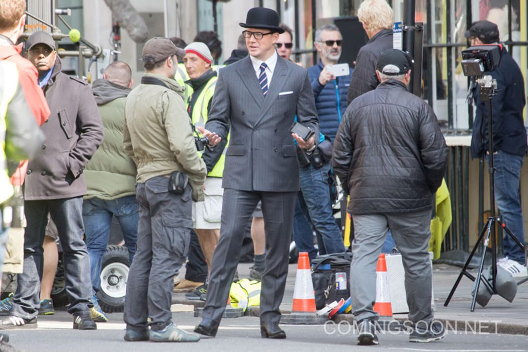 Channing Tatum con el equipo de 'Kingsman: The Golden Circle'