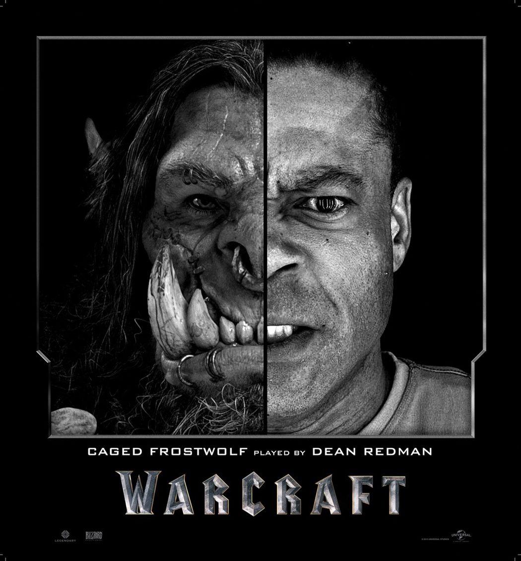 Dean Redman es Caged Frostwolf en 'Warcraft: El Origen'