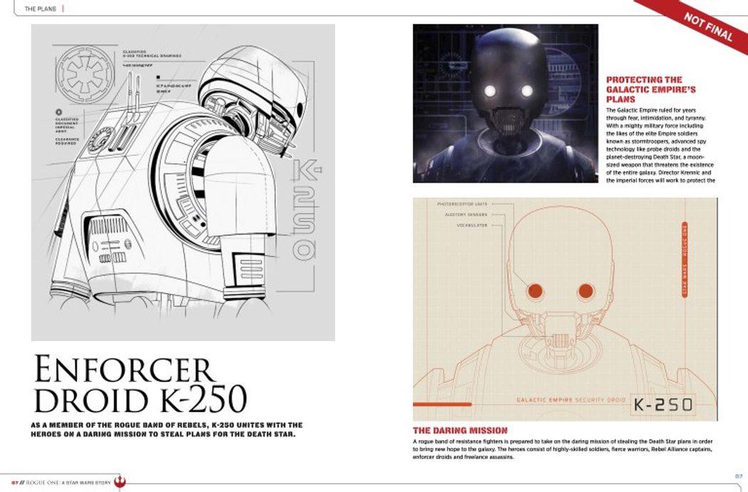 Bocetos del droide K-250