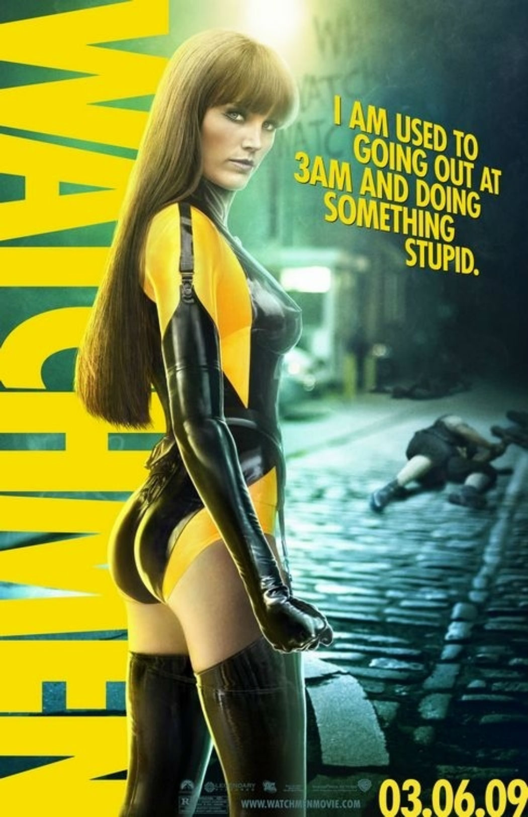 Malin Akerman en 'Watchmen'