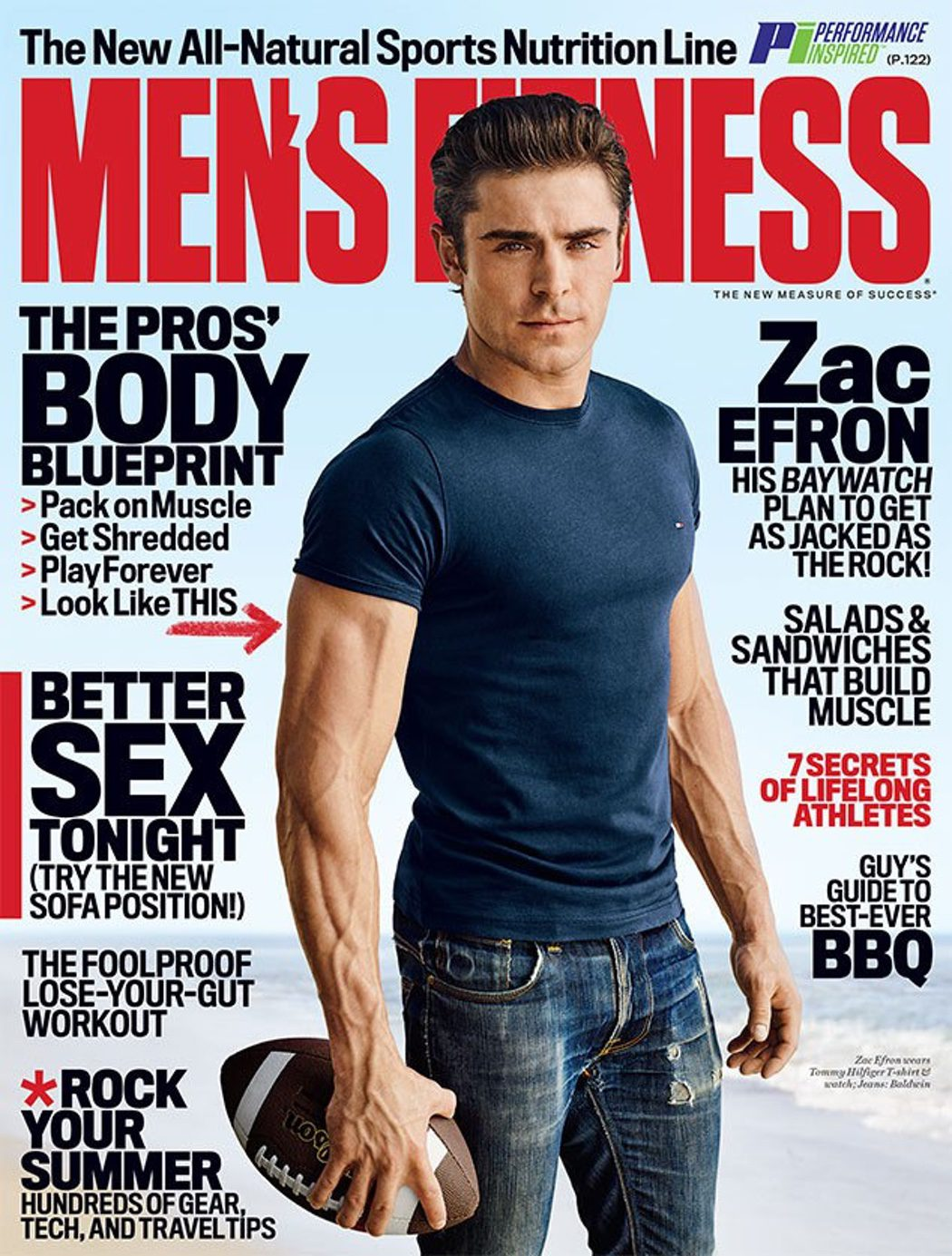 Zac Efron en la portada de 'Men's Fitness'