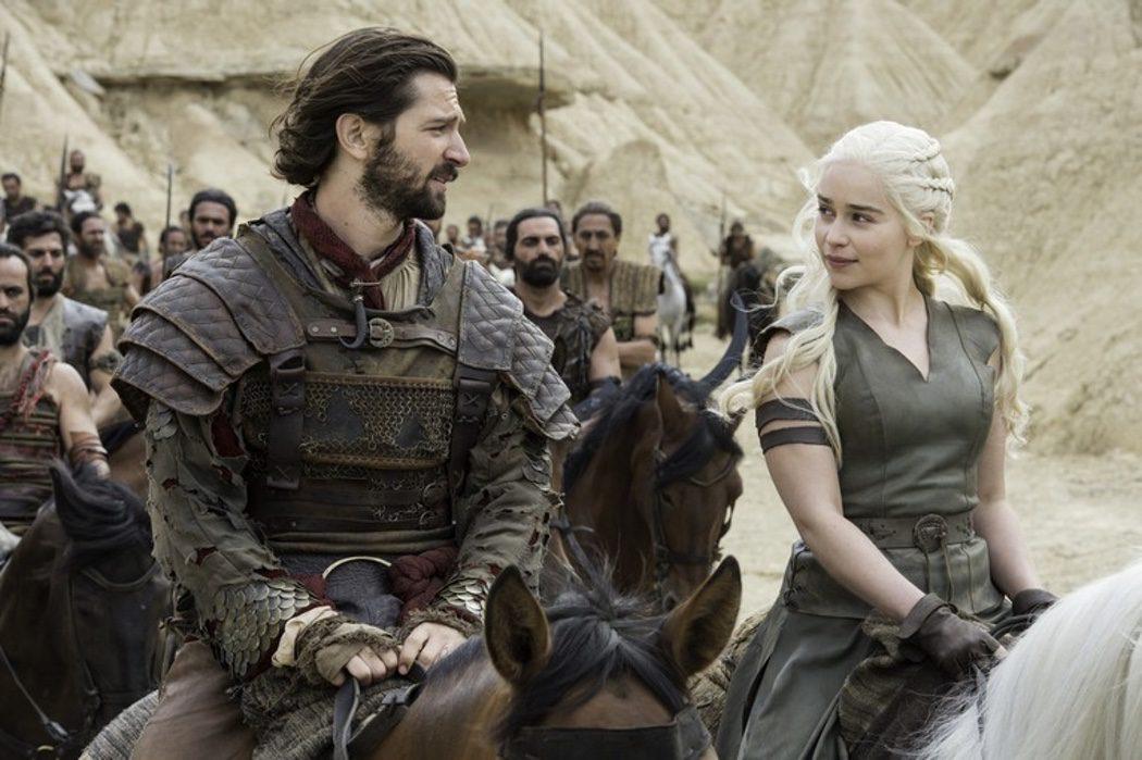 Daario Naharis y Daenerys Targaryen