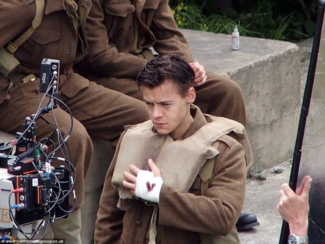 Harry Styles en el rodaje de 'Dunkirk'