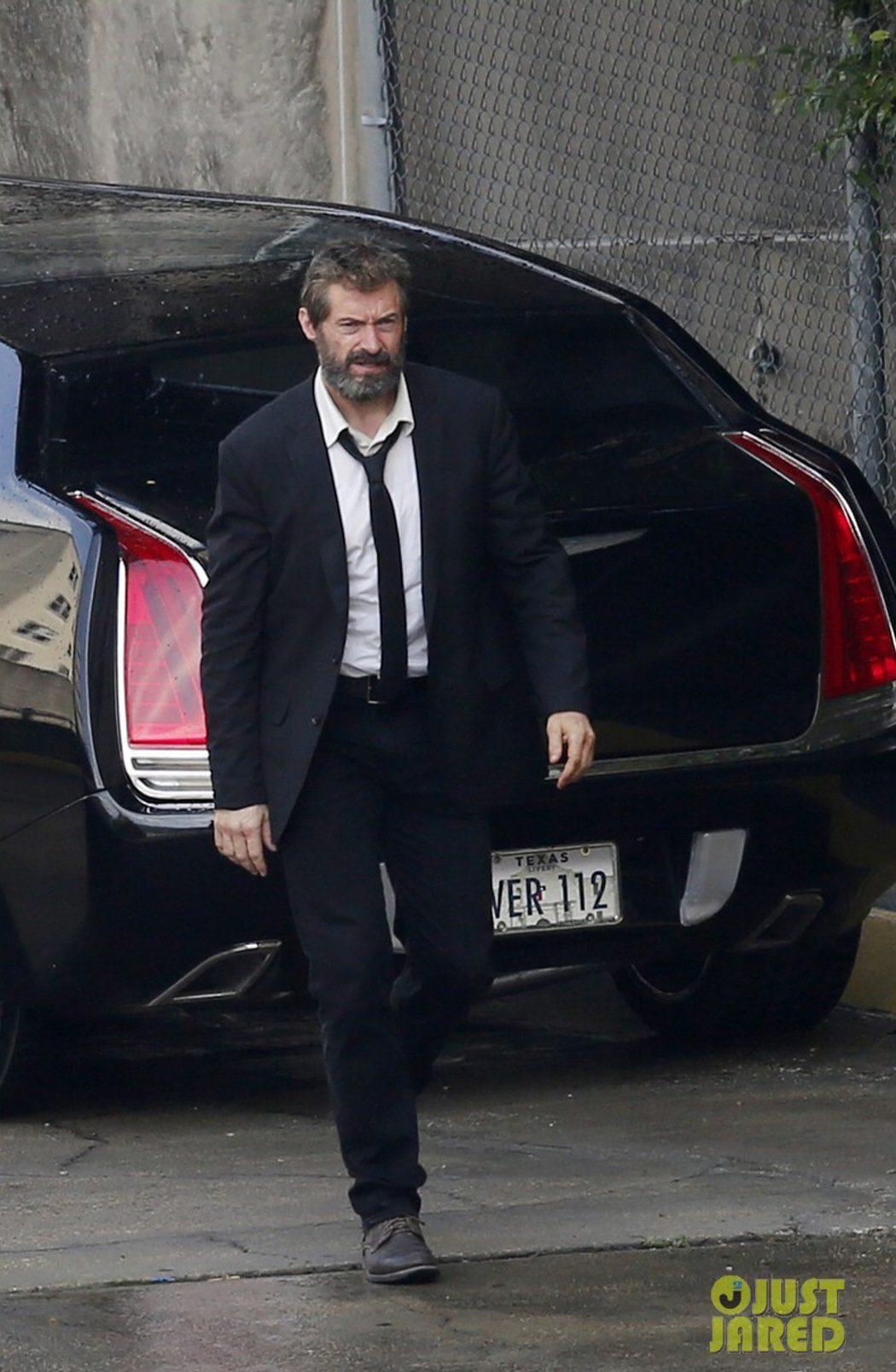 Hugh Jackman en el set de rodaje de 'Lobezno 3'