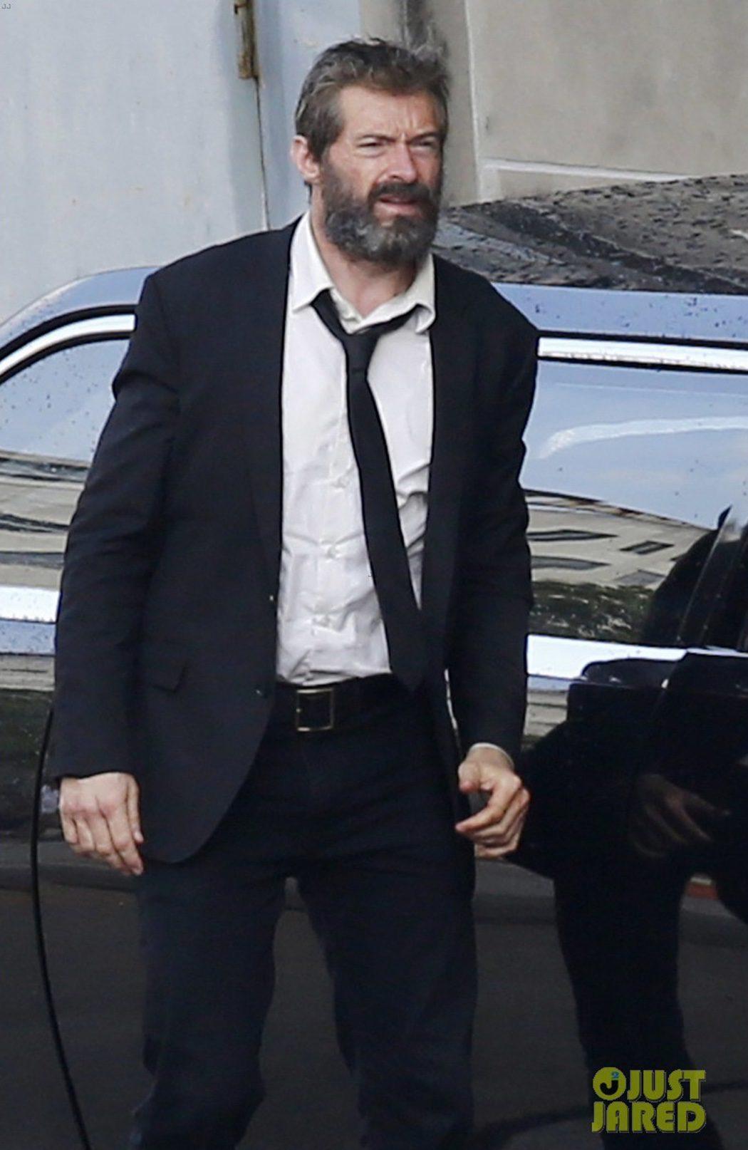 Jackman durante el rodaje de 'Lobezno 3'