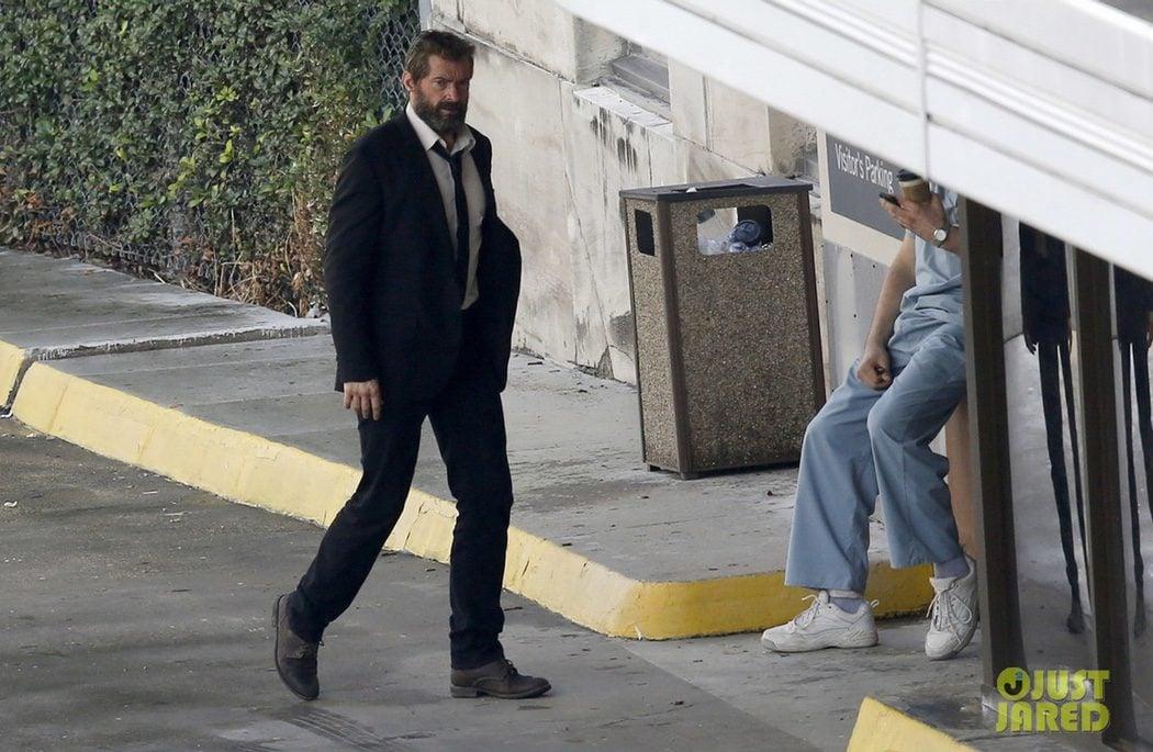 Hugh Jackman descansa en el rodaje de 'Lobezno 3'