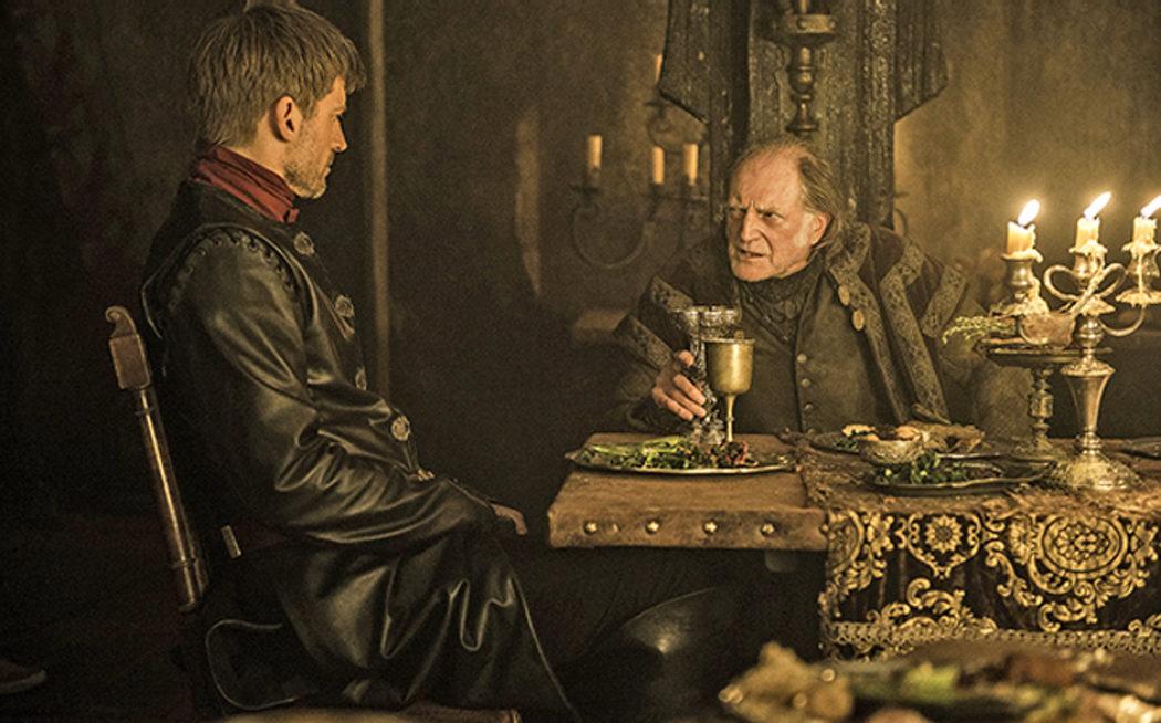 Jaime Lannister con Walder Frey