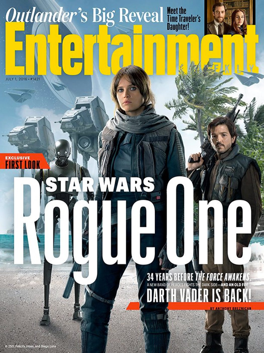 Portada de Entertainment Weekly con 'Rogue One'