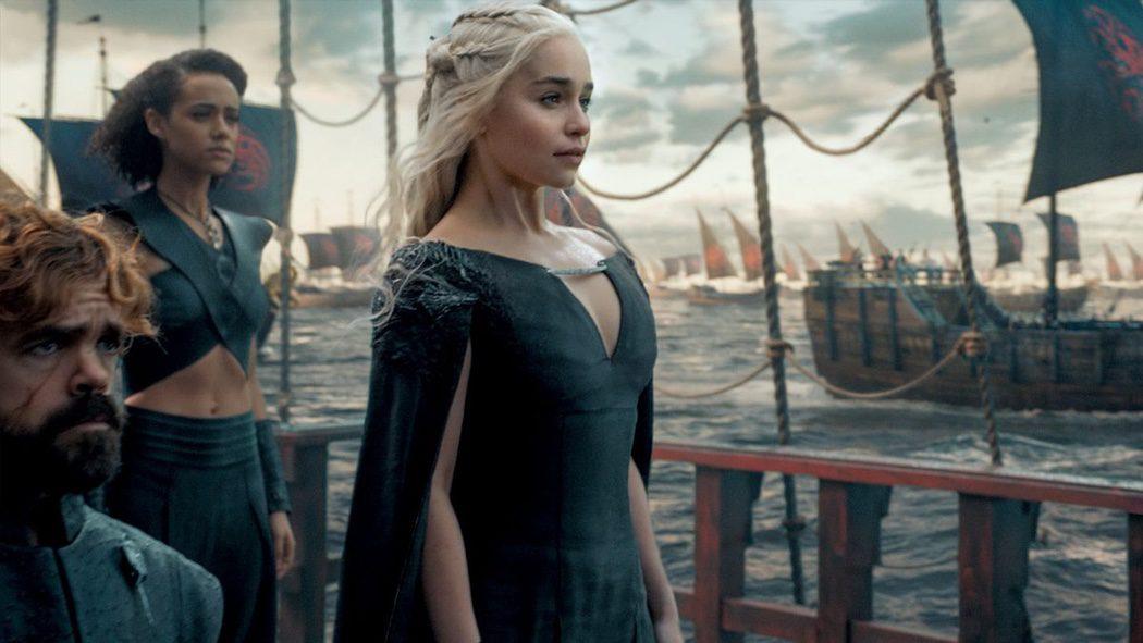 Daenerys capitaneando junto a Tyron Lannister