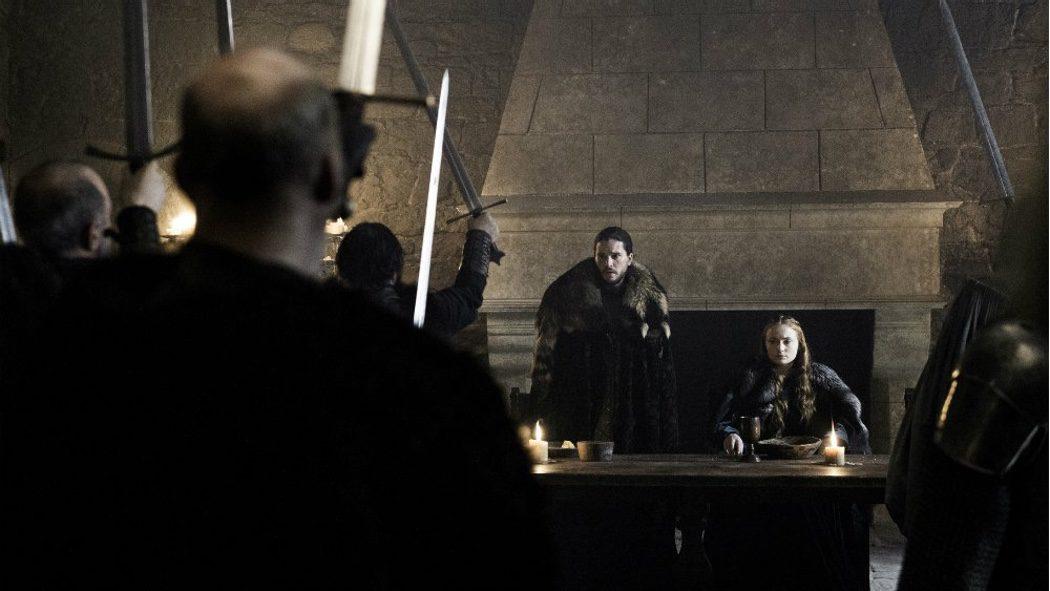 Jon Nieve y Sansa Stark juntos