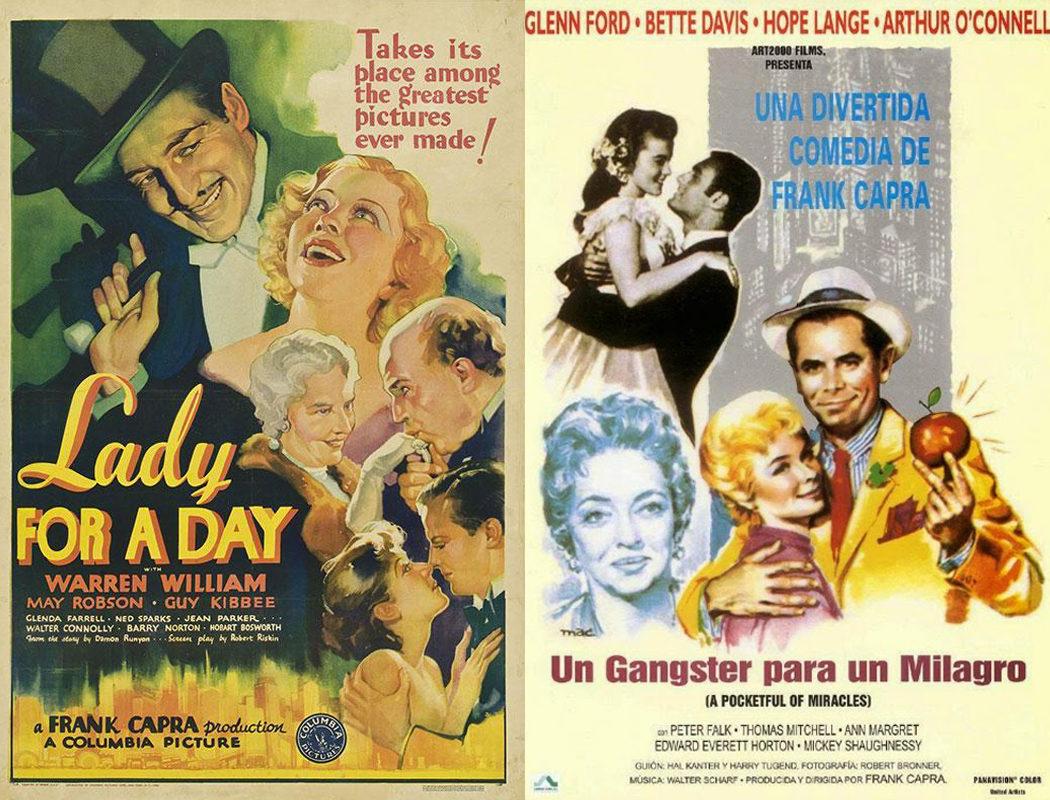 Frank Capra, 'Dama por un día' (1933) / 'Un gángster para un milagro' (1961)