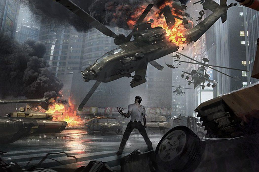 Travis contra un helicóptero
