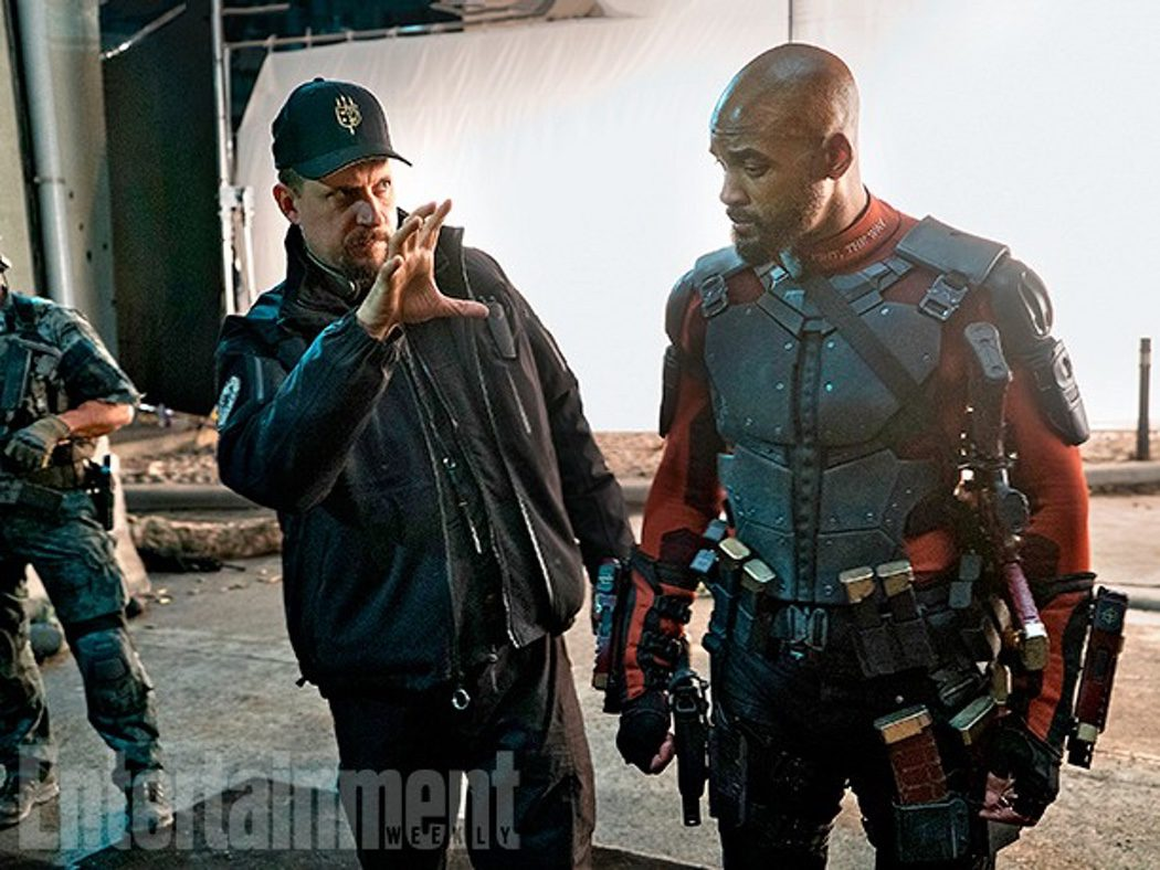 David Ayer dirigiendo a Will Smith, Deadshoot en la película