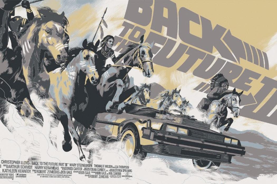 'Regreso al futuro III', lámina de arte de Matt Taylor (Versión 2)