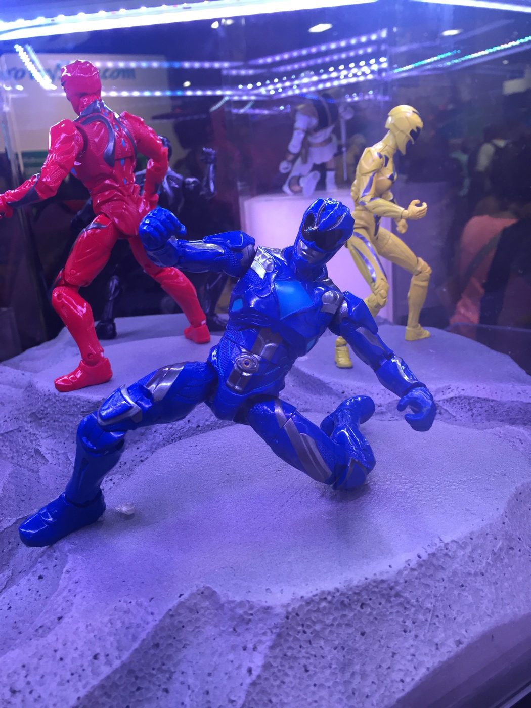 Figura de acción del ranger azul