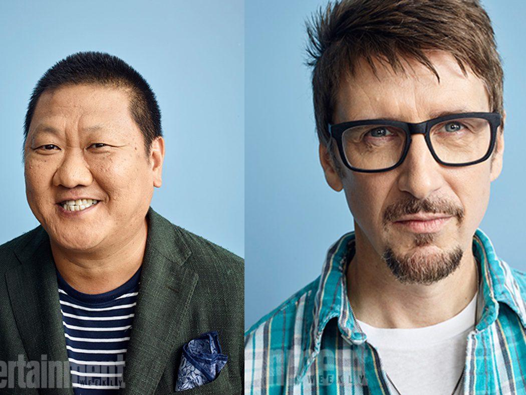 Benedict Wong y el director Scott Derrickson de 'Dr. Strange'