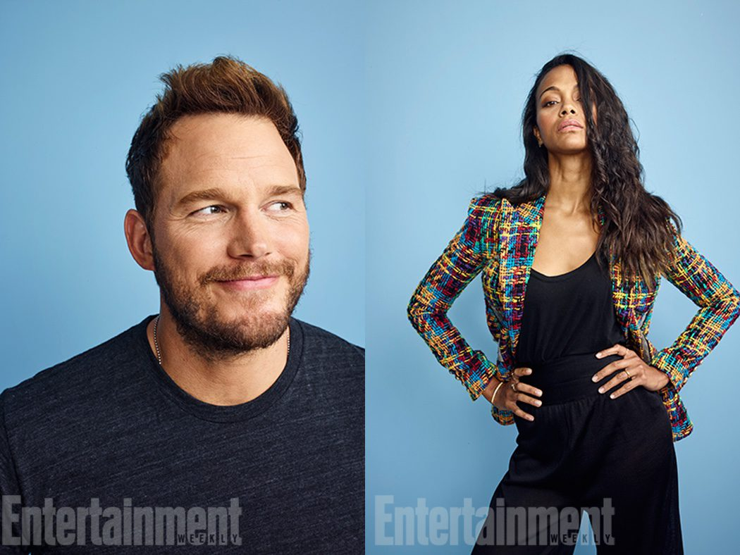 Chris Pratt y Zoe Saldana de 'Guardianes de la Galaxia Vol. 2'