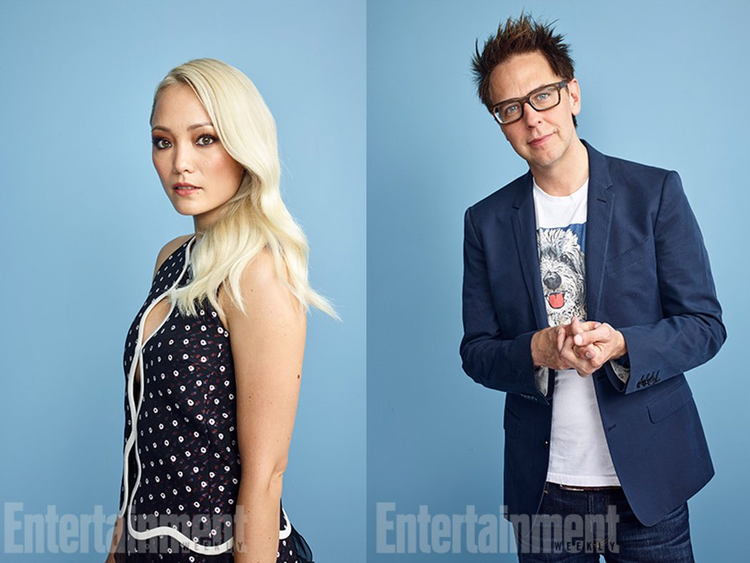 Pom Klementieff y el director James Gunn de 'Guardianes de la Galaxia Vol. 2'