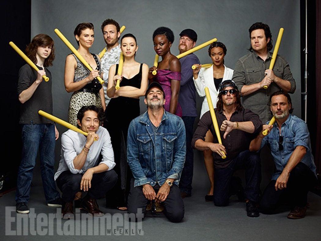 Negan y sus potenciales víctimas en 'The Walking Dead'