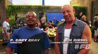 F. Gary Grey y Vin Diesel en el rodaje de 'Fast & Furious 8'